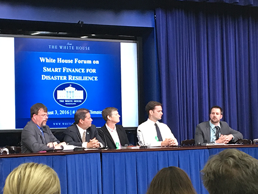 White House Forum on Smart Finance for Disaster Resilience